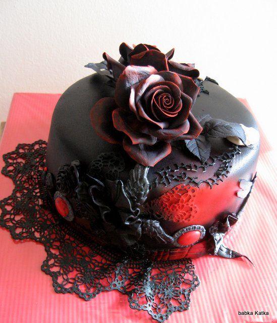 Gothic torta  DORTY  Pinterest  Gothic cake, Gothic and Cakes