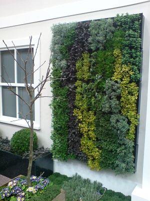 Vertical herb garden.