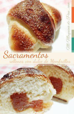 Receta de Sacramentos Rellenos con dulce de membrillo en horno de pan - paso a paso