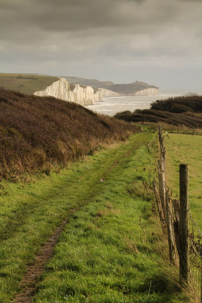 ~Path leading down to the beach at Seaford head, East Sussex, England~ by Martins - Photography