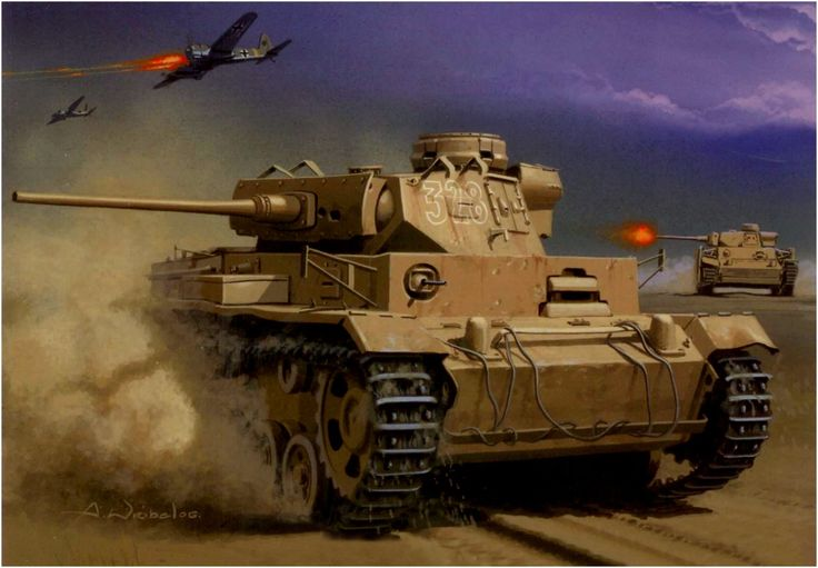Las Cosicas del Panzer — Panzer III Ausf. M del Afrika Korps al fondo...