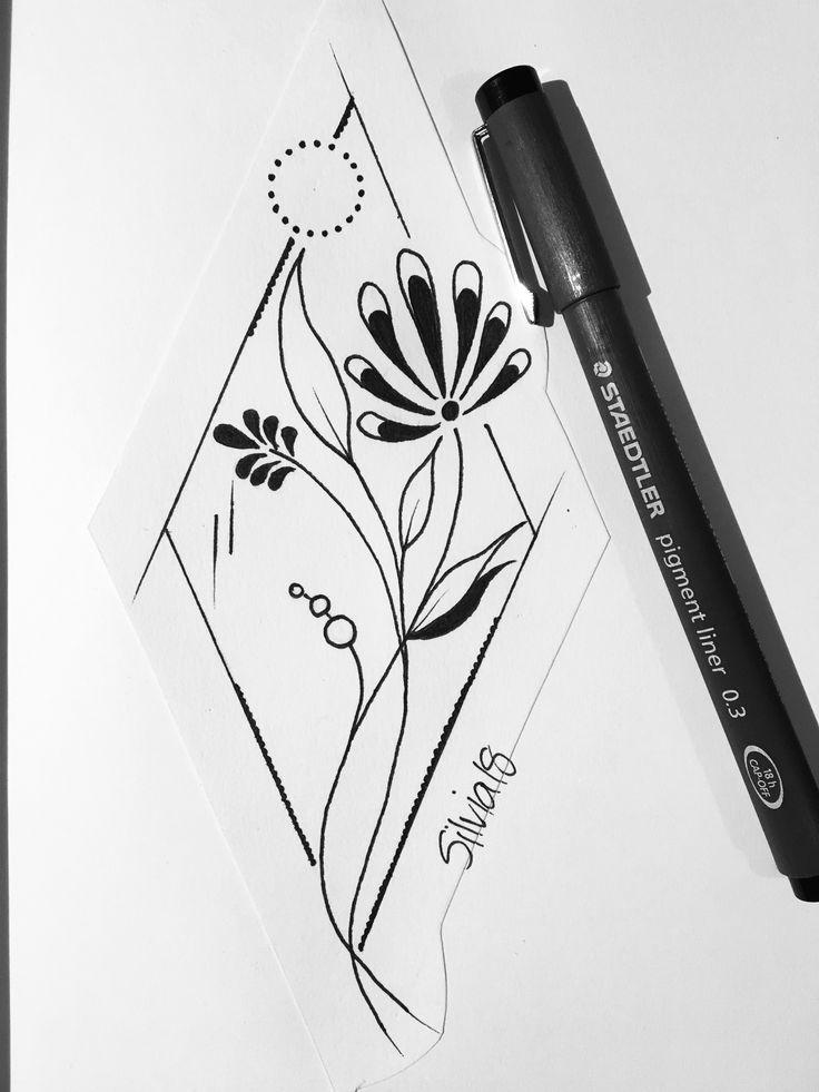 Blumen/ Geometric/ Tattoo idea