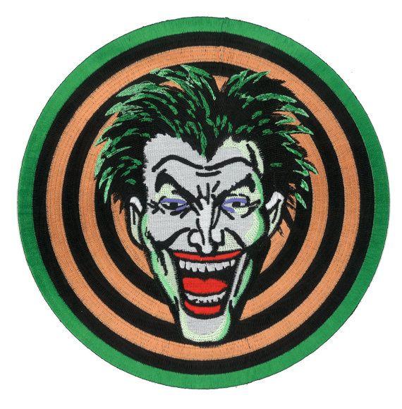 "GIANT 9"" Joker Gang iron-on Back Jacket Patch 1989 Batman Movie Dc Comic Marvel Halloween Costume Cosplay"