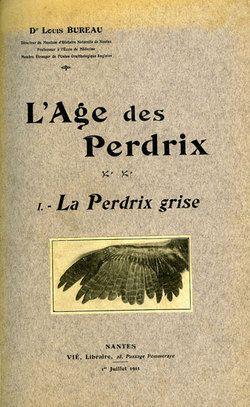Bureau. L'âge des perdrix. I. La perdrix grise. 1911