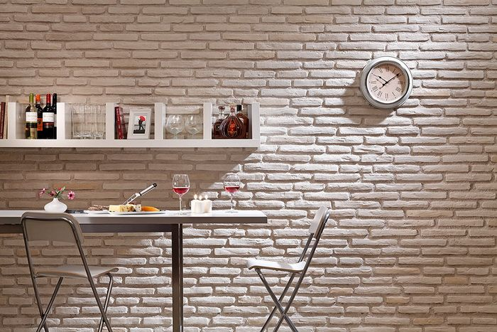 Latte Brick Slips. The white offering from the unique Vitruvian Range