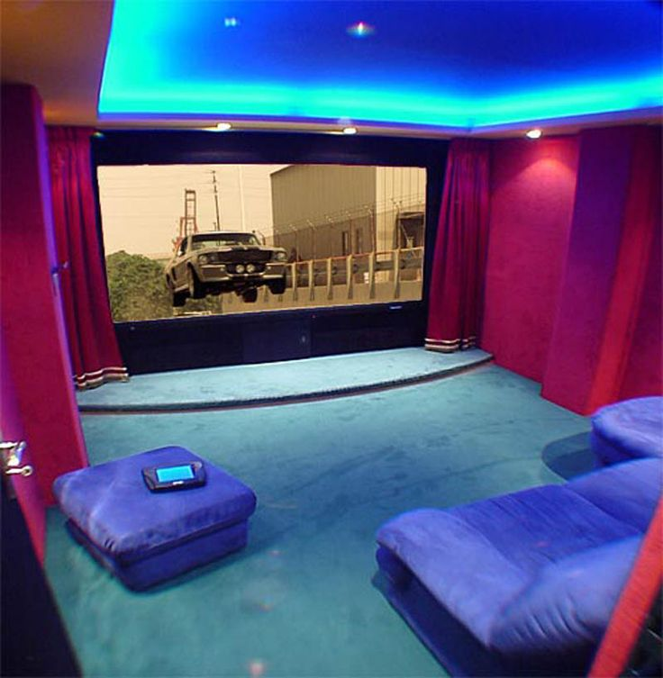 colorful home cinema design ideas interesting lighting