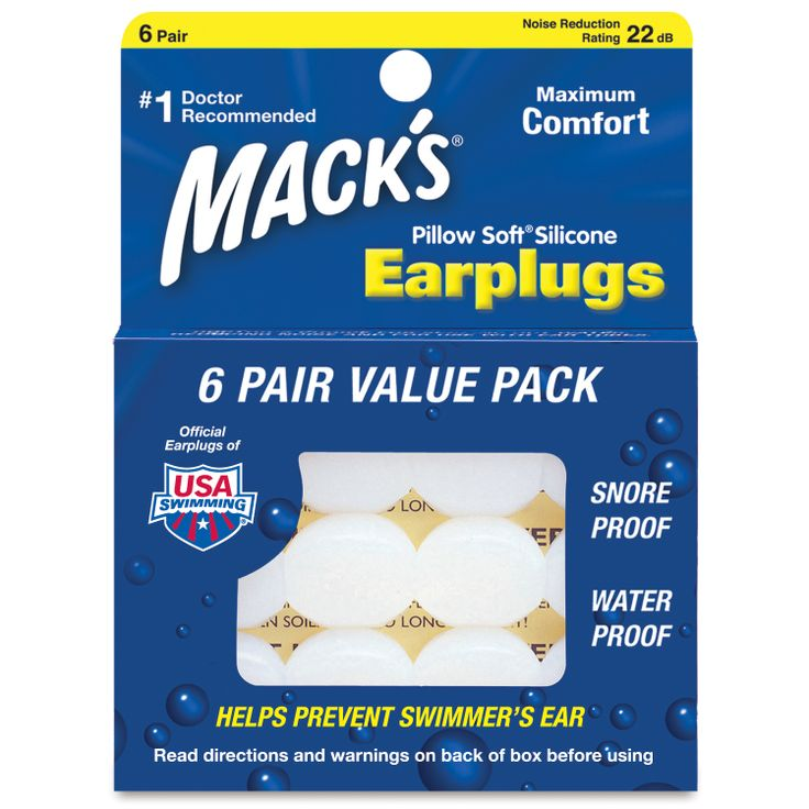 The ultimate in earplug comfort, Mack's silicone putty molds to the unique contours of any ear.