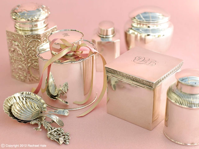 Sandra Kaminski  #antique silver #pretty #storage ideas #shabby chic #French Country