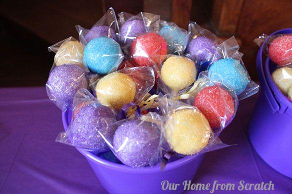 Coloured Cake Pops - Glitter!