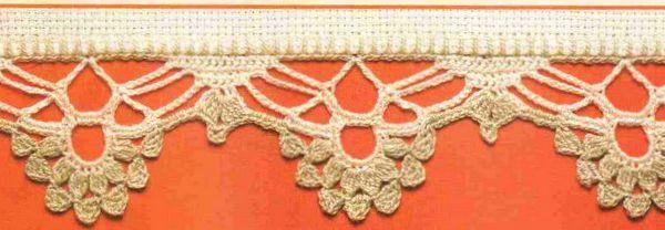 20 patrones de puntillas de para tejer a crochet con esquemas