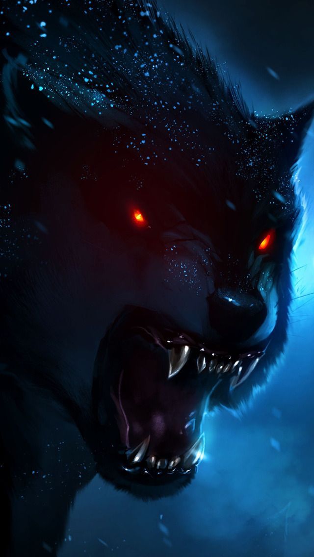 Hd Iphone 5 Retina Optimized Wallpapers For Your Iphone Now With Parallax Wolf Wallpaper Wolf Painting Werewolf Art Anime wolf live wallpaper