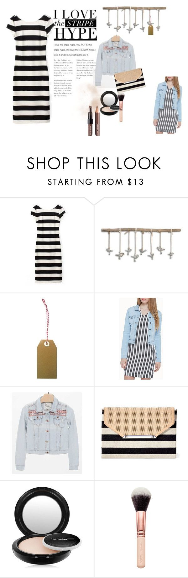 """stripe 4"" by ajriyaf on Polyvore featuring Home Decorators Collection, Vero Moda, White Crow, Stella & Dot, MAC Cosmetics and Shiseido"