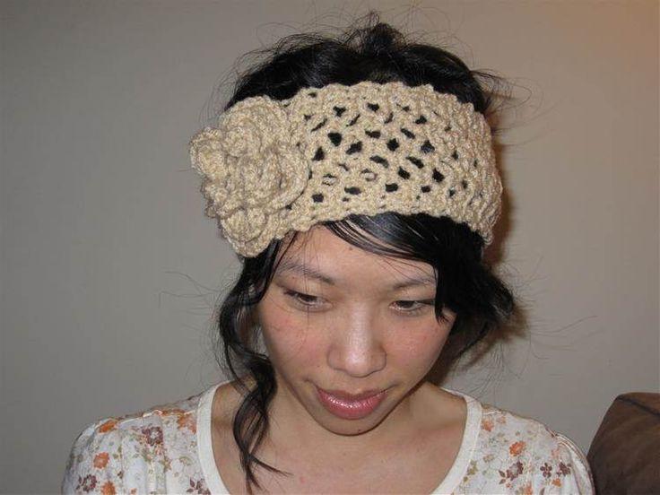 58 best Crochet- headbands images on Pinterest | Punto de crochet ...