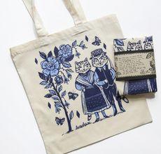 Banat Swabian Cats / silkscreened tote bag