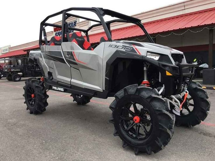 New 2017 Polaris GENERAL 4 1000 EPS Silver Pearl ATVs For Sale in Texas.