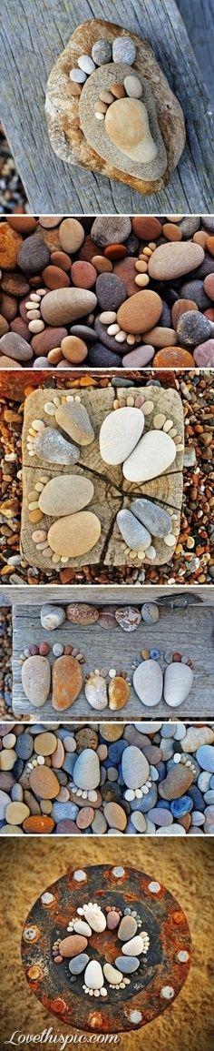 Garden feet rocks garden gardening garden decor garden ideas garden art. doing this when older.