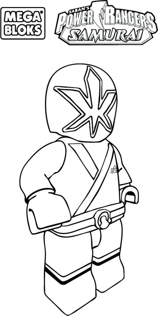 Funny Looking Lego Power Rangers Samurai Coloring Page For ...