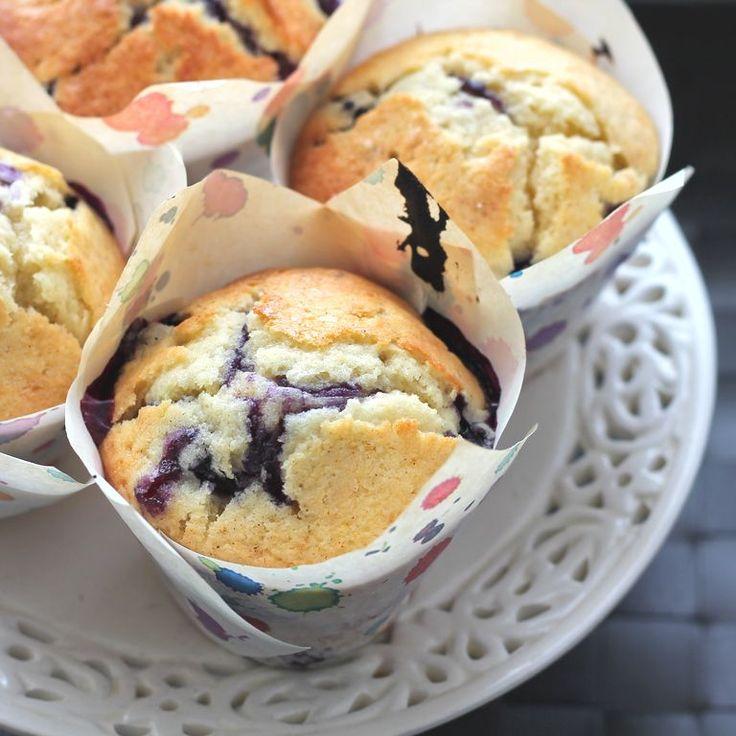 Ultra moist Buttermilk Blueberry muffin recipe. Perfect muffin recipe for summer!