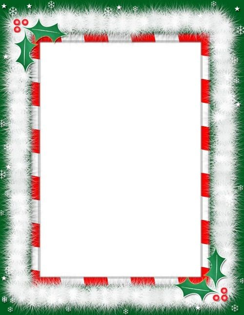 Christmas Border Clipart Black And White