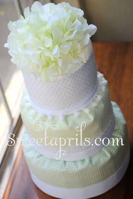 Sweetaprils: Fondant Style Diaper Cake Tutorial DIY