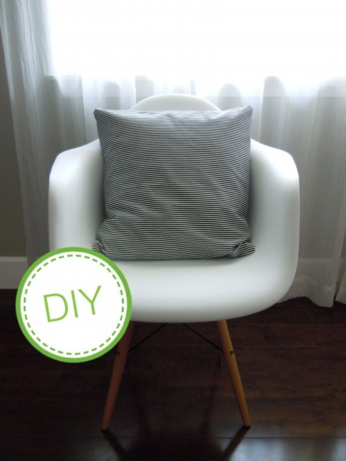 Our sofa could also use slipcovers, but new pillow covers would go a long way to freshen it up...