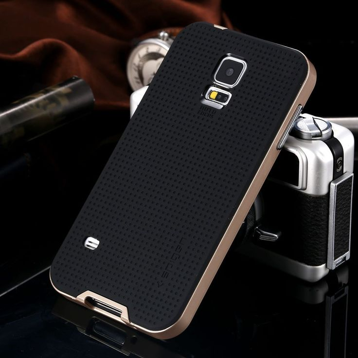 Amazon.com: Newest Neo Hybrid Bumblebee Case For Samsung Galaxy S5 I9600 Spigen Sgp Hard Phone Cover Black Gold High Quality Rcd-6 silver: Cell Phones & Accessories