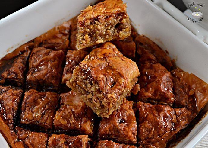 Deliciosa receta de Baklava del blog Disfrutando de la Cocina