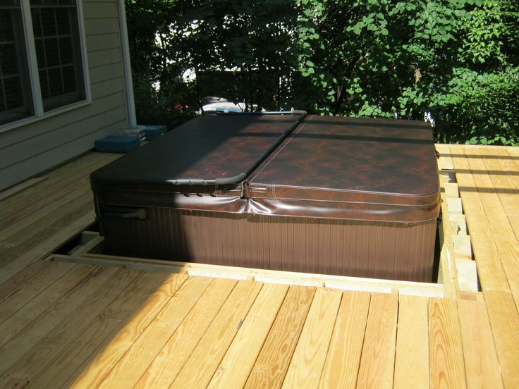 You Can Easily Quot Drop Quot Your Spa Into A Deck But We Think