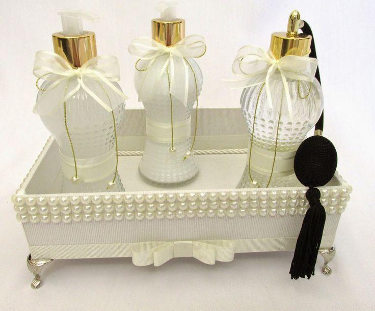 Divina Caixa: Kit Lavabo Luxo com decoração em pérolas!