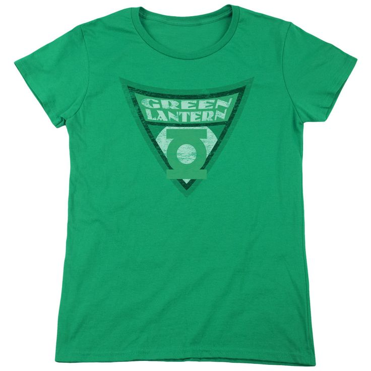 Batman: The Brave and the Bold Green Lantern Shield Kelly Green Womens T-Shirt