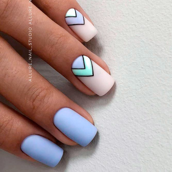 120 Special Summer Nail Designs For Exceptional Look Blue Nail Art Designs Blue Nail Art Nail Art Summer