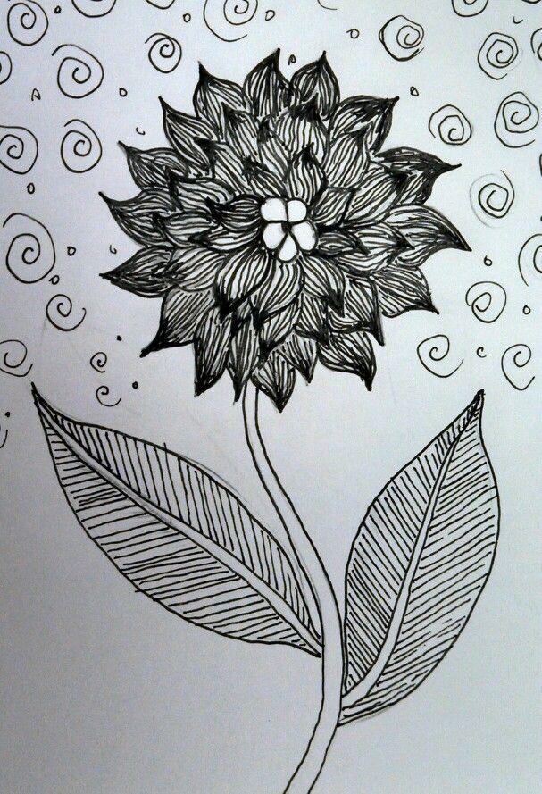 Zentangle flower Marcia Field