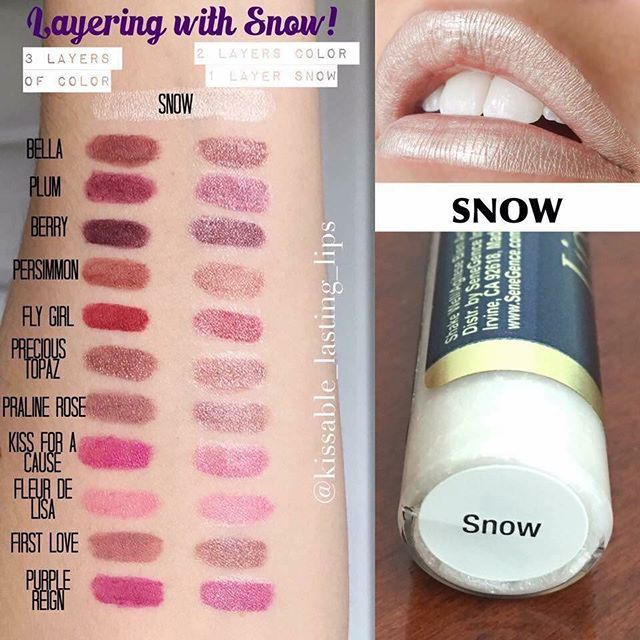 New color alert! Snow is the perfect color to get a frosty look www.senegence.com Distributor ID 204302 Facebook: Jess' Sassy Smooches. Email: jesstess79@hotmail.com