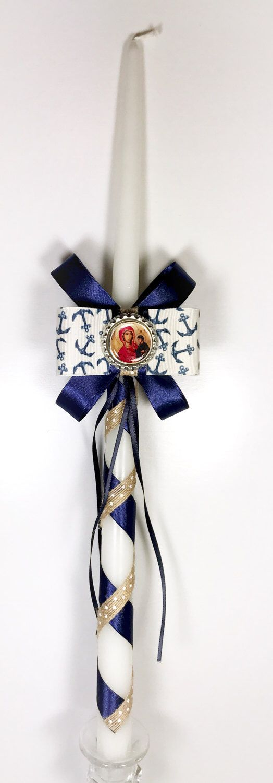 Anchor Greek Easter Candle (Lambatha) by EllinikiStoli on Etsy https://www.etsy.com/listing/498798578/anchor-greek-easter-candle-lambatha
