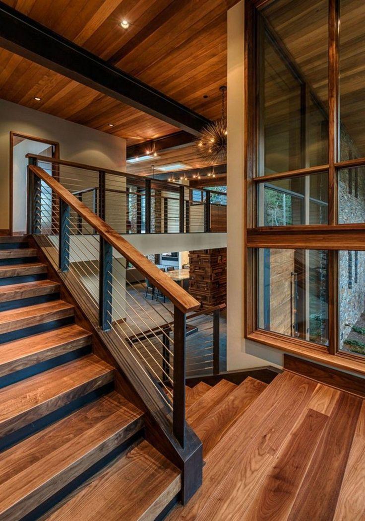 Escadas de madeira atuais   – Architektur und Wohnen