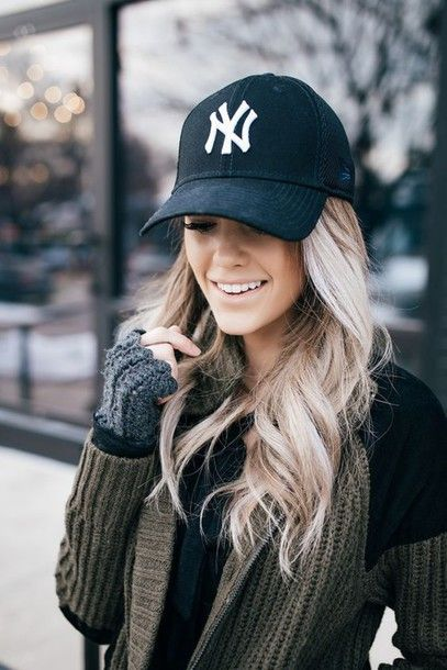 Hat: black cap, baseball cap, cap, cardigan - Wheretoget
