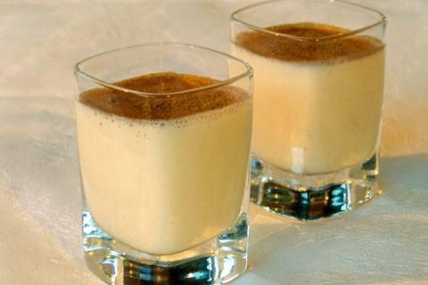 Melktert shooters  Ingredients: •One 375 ml bottle Vodka  •One 395 gram (300ml) tin of condensed milk (use up to two cans to make it thicker and sweeter) •Half of a 375 ml tin evaporated milk •Ground cinnamon to serve Method: 1.Mix well, using a food processer or whisk, and bottle, or pour the ingredients into a 1l bottle and shake well.  2.Keep in the fridge. Shake well before pouring into shooter or shot glasses. 3.Sprinkle each melktertjie with ground cinnamon and serve chilled.