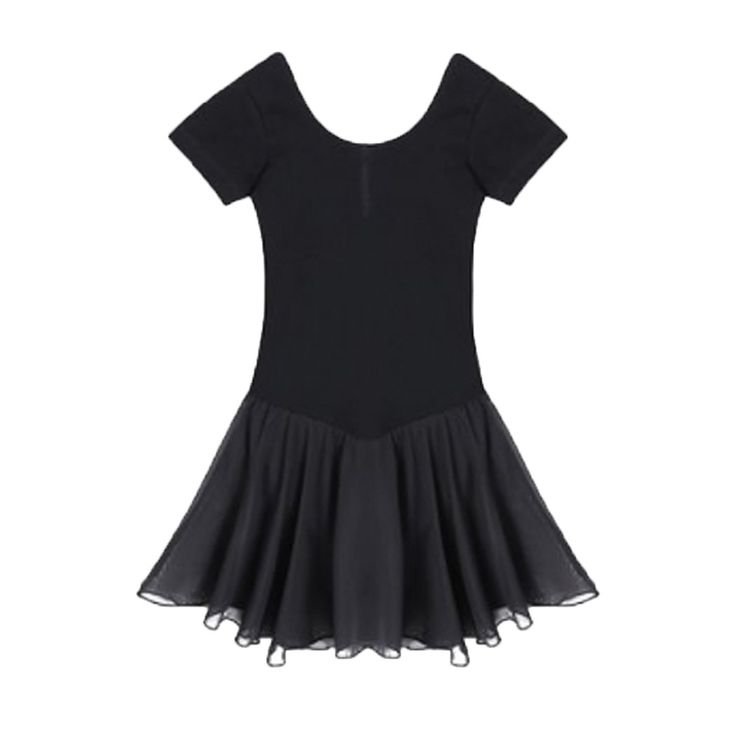 Kidsmian Little Girls Dancewear Dress Leotard Skirt (150, Black). Cotton Blend. Suits for: Sports, Ballet, Gymnastics. Please check product description before ordering to ensure accurate fitting. And please choose one size larger as the Leotard is smaller than the US Size. Thank you very much. Girls' Dance Leotard Ruffle Sleeve.