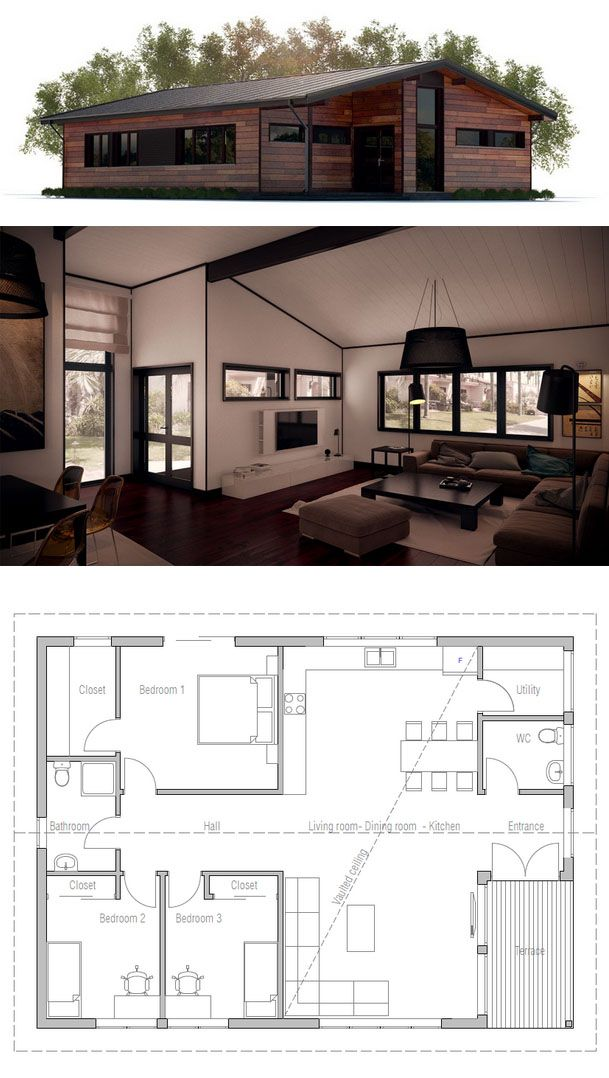 Small House Plan Small House Plans Pinterest 3 Car