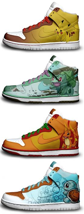 Pokemon Nikes. Would LOVE the bulbasaur ones, if I didn't have big feet :(