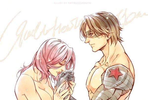 Marvel-Bucky and Natasha by Athew.deviantart.com on @deviantART