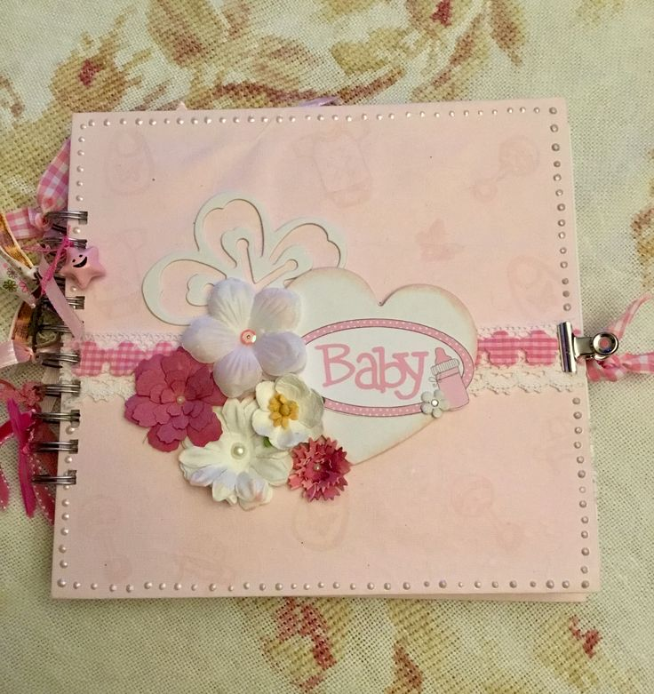 Album from Stamperia Baby Bears Girl paper