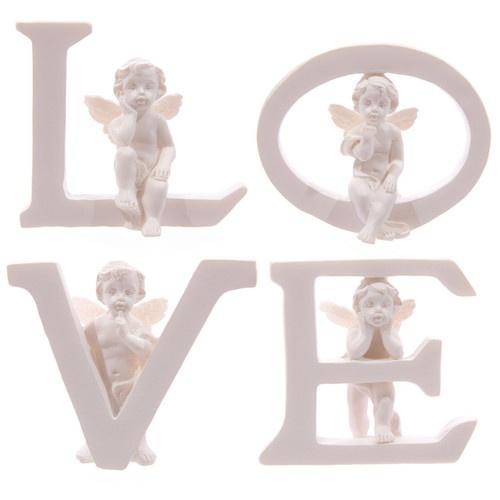 SET OF FOUR CHERUB 'LOVE' LETTERS - BEAUTIFUL CHERUB / BABY ANGEL DECOR! | eBay