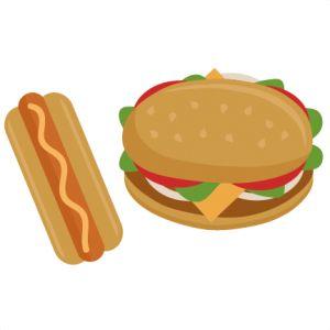 106 best clip art food drinks images on pinterest silhouette rh pinterest com  free clipart hamburger hot dogs