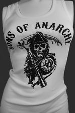 NEW FOR 2012! SONS OF ANARCHY CLASSIC REAPER TANK TOP GIRLS SOA BIKER SHIRT XL