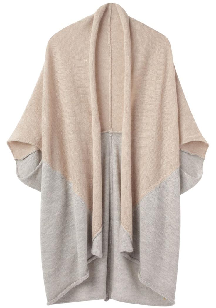 // Tsumori Chisato neutral nude/gray cocoon sweater #fallfashion
