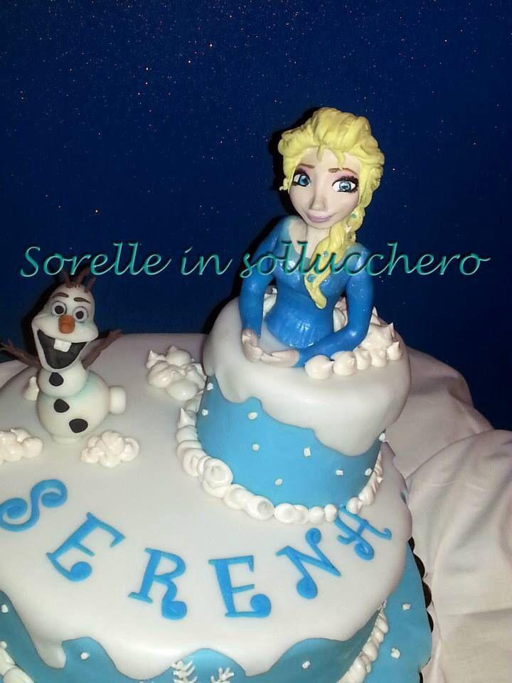 Frozen cake Elsa frozen cake