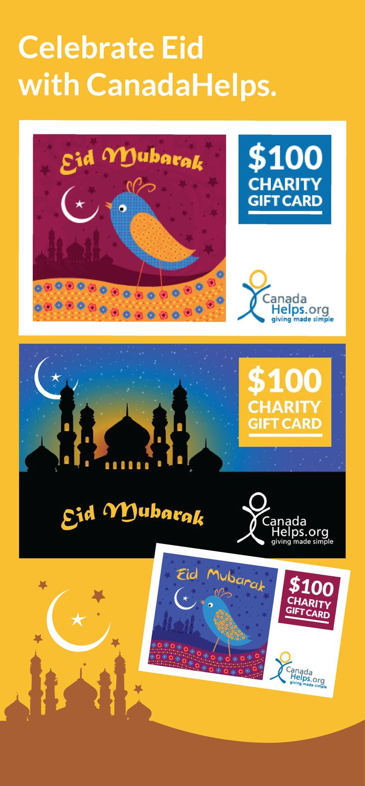 Celebrate Eid with a CanadaHelps Charity Gift Card! #Eid #charity #giving
