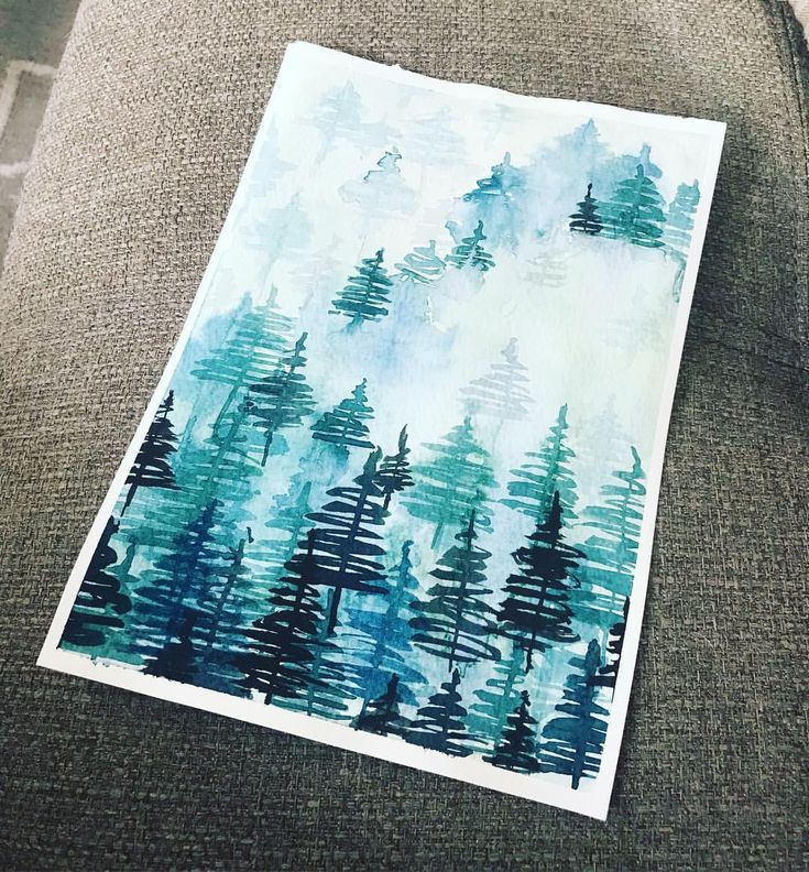 """7 Likes, 2 Comments - Maybloom Studio (@maybloomstudio) on Instagram: """"54/365 Having fun with some values, and who doesn't love a misty forest! #artofinstagram…"""""""