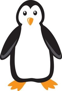 Free Penguin Clip Art Image: Clip Art Cartoon of a Penguin On A White Background